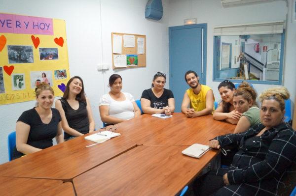 foto sesión del cole al instituto mujeres opañel 2017